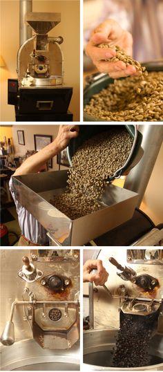 Roasting coffee beans in Paris