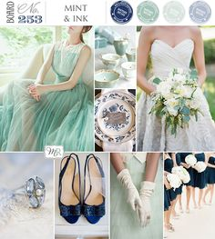 Mint Wedding Inspiration Board from Magnolia Rouge