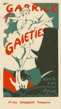 Garrick Gaieties order booklet, 1926; NYPL Digital Gallery