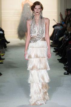 Вечернее платье в стиле винтаж с бахрамой