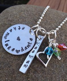 Mother's/Grandmothers Metal  Pendant Necklace--Customize to your liking! on Etsy, $24.00