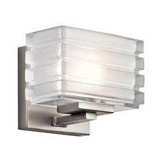 Kichler Lighting 1-Light Bazely Brushed Nickel Bathroom Vanity Light $99