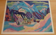 Ernst Ludwig Kirchner * Davos im Schnee * Poster Kunstdruck Art Print 1958