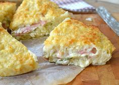 Torta di riso con zucchine prosciutto e formaggio