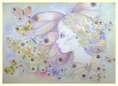 THE BUTTERFLY IS A WOMAN by GeaAusten.deviantart.com on @DeviantArt