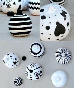 More Black & White Pumpkin Decorating Tips!