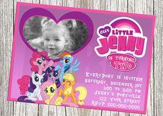 My Little Pony Photo Birthday Invitation by mommybrain2designs, $10.99