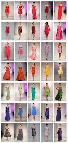 """Lights and Brights"" bridesmaid dresses"