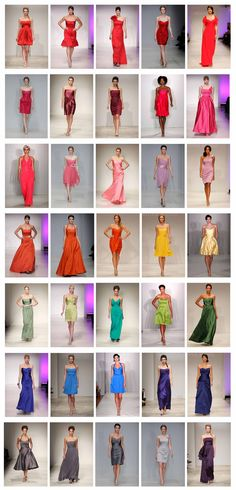 """Lights and Brights"" bridesmaid dresses"