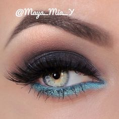 .@maya_mia_y | Smokey with a pop of turquoise For this look I used pigments from @mahyamin... | Webstagram - the best Instagram viewer