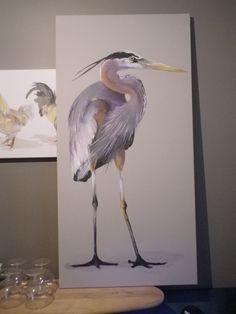 Heron-pretty sure i can paint this Watercolor Bird, Watercolor Paintings, Crayons Pastel, Encaustic Art, Coastal Art, Blue Heron, Painting Lessons, Art Studies, Wildlife Art