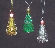 Set of 3 - Christmas Tree Ornaments by ticc for $5.50