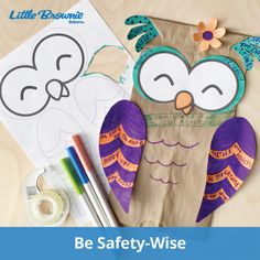"Nothing says ""I'm safety- wise"" more than this adorable owl covered with handy safety tips."