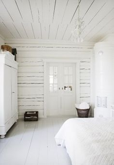 Peaceful White Bedroom Designs.  No busyness to it.  Just a room to go into to rest.  Not all the 'noise' of decorative items.