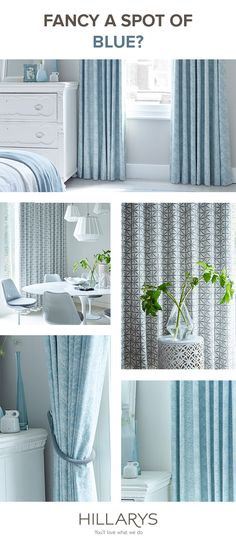 Blue adds a stillness like no other colour. Remind yourself of a bright blue sky and the relaxing waves of the sea every time you walk into the room. Hillarys has a wide range of blue curtains to suit any mood.