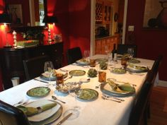Dining Room ready for a great evening of food, friendship and laughter