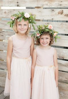 Pastel pink, scabiosa pods, flower crowns // Laura Witherow Photography