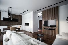 Wood theme apartment in St. Petersburg by Pavel Isaev-01