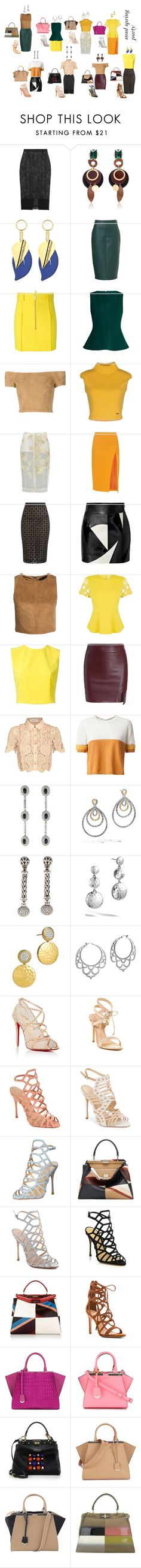 """""""spring party"""" by yusufbudiman on Polyvore featuring Roland Mouret, Marni, Dsquared2, Alice + Olivia, By Sun, Altuzarra, FAUSTO PUGLISI, New Look, Karen Millen and self-portrait"""