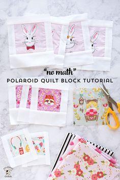 "How to make ""No Math"" Polaroid Quilt Blocks via @polkadotchair"