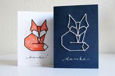 DIY: Tangram-Stickkarten (mit Vorlage) › Schön und fein