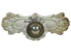 Chic Antique,Möbelgriff,antique weiß, Landhaus,Metall/Kunststoff