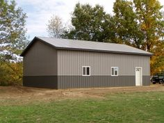 30 x 40 x 12 Steel Barn - Standard Barn Construction Michigan - Burly Oak Builders Pole Barns Direct, Pole Barn Builders, Post Frame Building, Steel Barns, Barn Storage, Barns Sheds, Steel Buildings, Horse Barns, Craftsman