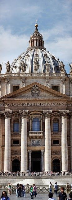 Architecture Churches & Temples | Rosamaria G Frangini || Basilica San Pietro in Vaticano, Rome. Italy.  An image travel guide about things to do in Rome, Italy - a place full of history and amazing monuments! -- Have a look at http://www.travelerguides.net