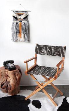 MY DIY | Mudcloth print chair