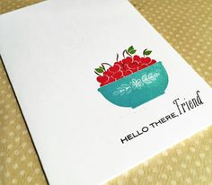 Using a Papertrey Ink stamp set and pretty ink colors.