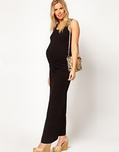 Enlarge ASOS Maternity Maxi Dress In Stretch Fabric