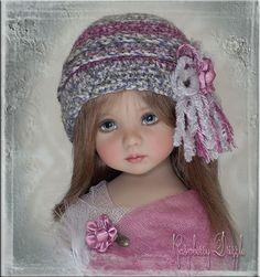 RASPBERRY DRIZZLE Hat 4 Effner Little Darling  Betsy McCall Ellowyne by Linda