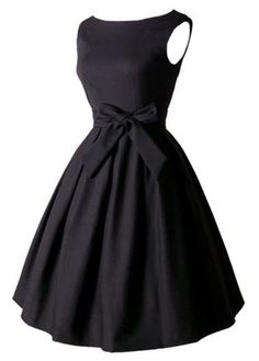 Sleeveless Bowknot Decorated Black Skater Dress  on sale only US$27.79 now, buy cheap Sleeveless Bowknot Decorated Black Skater Dress  at lulugal.com