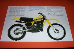 78 Yamaha YZ 400 Motocross Dirt Bike Poster YZ400 Vintage 70s Motorcycle | eBay