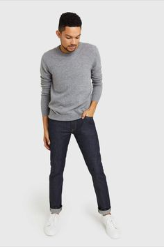 A timeless staple. Our cashmere crew features 100% Grade A Mongolian cashmere. A versatile classic, it can easily be worn when you need to look your best, and worn casually with a pair of jeans or around the house. It'll soon become a part of your everyday uniform. Cashmere Sweater Men, Men Sweater, Best Sellers, Heather Grey, That Look, Normcore, Sporty, Sweatpants, Pairs