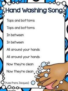 Hand Washing Routine, Book, Posters, & Song by Pocket of Preschool Kindergarten Songs, Preschool Music, Preschool Learning Activities, Preschool Lessons, Preschool Classroom, Preschool Transitions, Circle Time Ideas For Preschool, Transition Songs For Preschool, Circle Time Activities