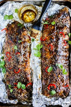 These Sticky Asian Ribs are coated in a deliciously sticky, sweet, and savory sauce and have such a wonderful depth of flavor that will just blow your mind! Asian Ribs, Dinner This Week, Toasted Sesame Seeds, Paleo Whole 30, Fish Sauce, Bon Appetit, Spice Things Up, Meal Planning, Healthy Recipes