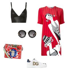 """Sin título #359"" by jocelin-cra on Polyvore featuring moda, Gucci, T By Alexander Wang, Dolce&Gabbana y Holly Fulton"