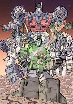 Ultra Magnus and The Wreckers by Raydzl.deviantart.com on @deviantART