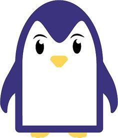 Cute penguin in cartoon style