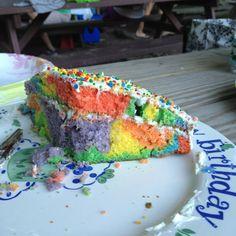 Tye Dye cake for the double digit birthday. Happy 10th MRD!