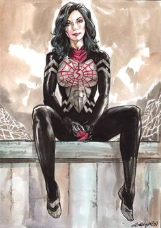Silk by Ryan Kelly Marvel Women, Marvel Girls, Comics Girls, Marvel Venom, Marvel Art, Marvel Heroes, Marvel Comic Character, Marvel Characters, Spider Girl