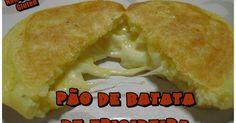 Pão de Batata de Frigideira Não Contém Gluten Bem prático e rápido de fazer. Pode ser feito com diversos recheios, se não for recheio de...
