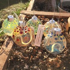 A personal favorite from my Etsy shop https://www.etsy.com/listing/258209534/handmade-glass-ornaments-5pk-loco-balls
