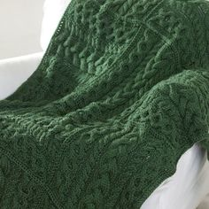 Caron International | Free Simply Soft® Project | Cables Cubed Throw