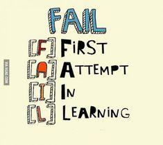 L'échec n'est est un que si tu abandonnes. Venez échanger autour de ces pensées sur cette page : https://www.facebook.com/coachingdvp