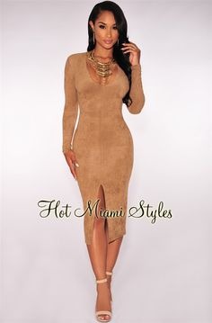 To make our wholesale bodycon dresses more stylish,our dress are designed with embellishments such as patterns,lace,fringe,cut-out and so on. Tight Dresses, Nice Dresses, Casual Dresses, Dresses With Sleeves, Slit Dress, Bodycon Dress, Peach Clothes, Diy Clothes, Military Ball Dresses