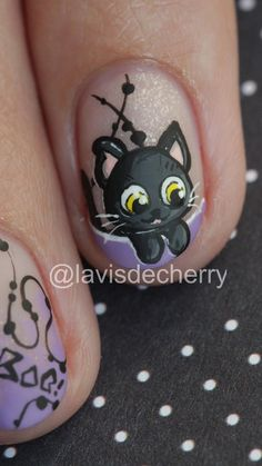 Unicorn Nail Art, Cat Nail Art, Animal Nail Art, Cat Nails, Animal Nail Designs, Nail Art Designs Videos, Nail Art Videos, Simple Nail Art Designs, Super Cute Nails