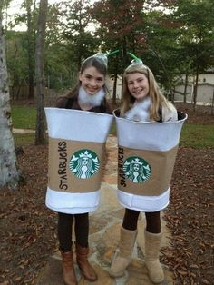 Cup of coffee for coffee and donut costume