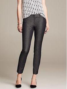 Sloan-Fit Textured Slim Ankle Pant | Banana Republic